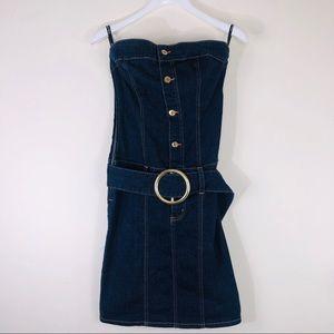 Baby Phat Strapless Denim Dress Size 7